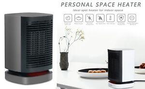 New Ceramic Electric Space Heater Auto Oscillation Fan Heat Office Room Kitchen
