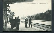 C1908 KING EDWARD VII AT BIARRITZ RAILWAY STATION (I THINK WITH HIS SECRETARY)