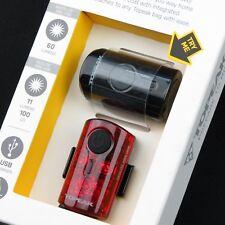 Topeak TMS080 MINI USB COMBO / Bike Bicycle LED Front & Rear Light Lamp Set