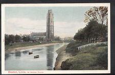 Lincolnshire Postcard - St Botolph Church, Boston   RS4002