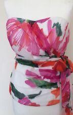 Special Occasion Silk Floral Strappy/strapless Top Coast New Multi Colour 16