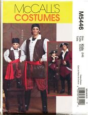 MCCALL'S SEWING PATTERN 5446 BOYS SZ 3-8 PIRATE COSTUME - COAT, TOP, VEST, PANTS