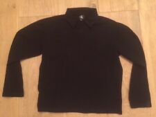 Calvin Klein men's black long sleeve polo shirt (S) in immaculate condition