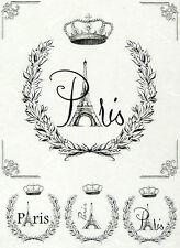 Rice Paper for Decoupage, Scrapbook Sheet, Craft Vintage Labels Paris 2
