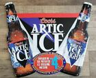 """COORS (1994) ARTIC ICE """"NOTHING'S BOLDER, NOTHING'S COLDER"""" [METAL SIGN] PROMO"""