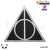 Harry Potter Deathly Hallow Embroidered Iron On Sew On Patch Badge For Clothes