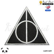 Harry Potter Deathly Hallow Embroidered Iron On Sew On PatchBadge For Clothes