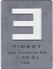Eminem RARE Concert Ticket 1/20/01 Santa Monica Slim Shady Brick MMLP