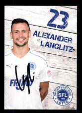 Alexander Langlitz Autograph Card SF Lotte 2017-18 Original Signed + A 173793