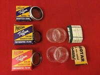 Lot Of 3 Tiffen Series #5 Filters and Adapter Ring