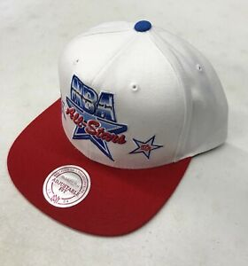 Mitchell & Ness 2019 NBA All-Stars Snapback Hat White Red Adjustable Cap