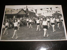 Old postcard sport women gymnasts c1940s