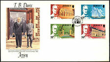 Jersey 1985 T.B. Davis FDC First Day Cover #C42250
