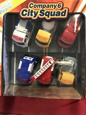"Company 6 City Squad Friction Power Trucks Plastic 3"" Nib Fire Police Ambulance"