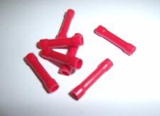 (100) Wire Butt Connectors Red Vinyl 22-18 Gauge AWG Ga Car Radio Terminals New