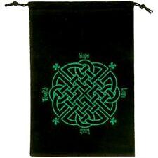 """Celtic Knot Velveteen Tarot/Whatnot Bag    5"""" x 7 1/2"""""""