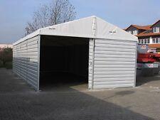 Trapezblechhalle Lagerzelt 6mx12m mit Schneelast /Inkl. 1 Schiebetor Reifenlager