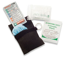 2 x CPR KIT Resuscitation Face Shields - Resus Mask + Gloves + Antiseptic wipe