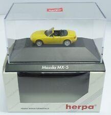 Herpa nº 100601 Mazda mx-5, Zinkgelb (PC) - NEUF dans sa boîte