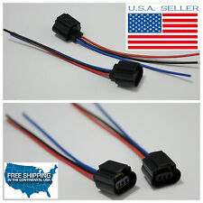 2pc H13 9008 Wire Harness Female Plug Pigtails Socket Connector Yukon Mustang GM