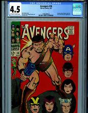 Avengers #38 CGC 4.5 1967 Hercules Silver Age Marvel Comics B28