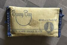 1950s BUNNY BAG Shoe Whitener Pouch in Original Bag for White Buck Shoes
