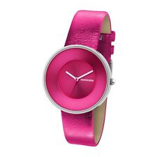"Lambretta Uhr  ""Cielo Metallic Pink"" Edelstahl Leder Fuchsia Frau"
