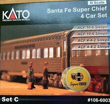 Santa Fe Super Chief 4 car set C - Sleepers 106-6003 (N gauge)