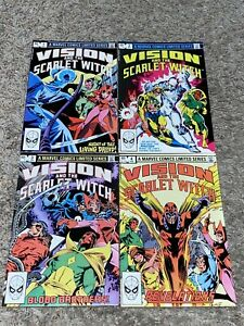 1982 VISION AND THE SCARLET WITCH #1 2 3 4 VG+ Very Good+ set lot