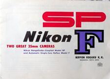 Nikon Sp and F Brochure
