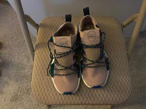 Adidas Arkyn 3 Stripest Women Running Sneakers Beige/Blue Sz 8