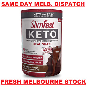 SlimFast Keto Meal Replacement Slim Fast Brownie Batter Fudge WEIGHT LOSS - 379g