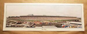 Charlotte Motor Speedway ~ NASCAR racing ~ 1990s vintage panoramic poster print