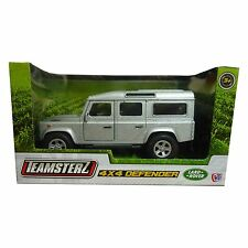 Teamsterz Land Rover 4x4 Defender Die Cast Toy Silver Car NEW BOXED