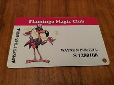 Obsolete Vintage Flamingo Casino Magic Club Slot Card *Laughlin Nv *