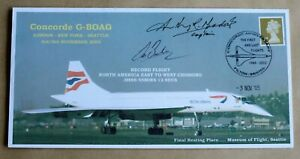 CONCORDE G-BOAG MUSEUM OF FLIGHT SEATTLE 2005 COVER SIGNED CPTS BRODIE & MEADOWS