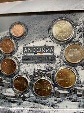 More details for andorra 🇦🇩x8 coins set 2020 1 cent to 2€ euro bunc official kms folder