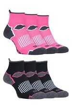 Storm Bloc - 3 Pack Ladies Breathable Padded Quarter Ankle Running Sports Socks