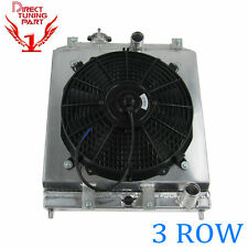 3 ROW CORE ALUMINUM RACING RADIATOR +SHROUD FAN FOR Honda Civic EG EK 92-00