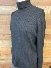 Burberry London Mens Wool Knit Sweater Long Sleeve Mock Neck  Sz XL Made Italy