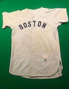 1958 Game Used Road Jersey of Boston Red Sox Pitcher Willard Nixon