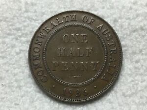 1936 Australian Half Penny - 6 pearls + free post with tracking