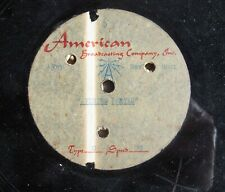 New listing Abc Radio 12-inch 78rpm Acetate from the 1950s: Evening Prayer