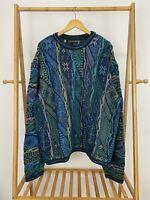 VTG Coogi Australia Biggie Hip Hop Bold Colors Sweater RARE Size 4X 4XL EUC