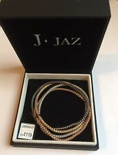 J Jaz Sterling Silver 4 Strand Multi Colours Fancy Bracelet - JZBR009 Jewellery