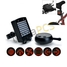 Rechargeable Bike 64led Rear Tail Light Turn Signal LaserWireless Remote Control