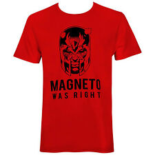 X-Men Magneto Was Right Men's T-Shirt Red