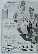 PUBLICITE 4711 EAU DE COLOGNE REVEIL PARFUME A SON COUCHER DE 1929 FRENCH AD PUB