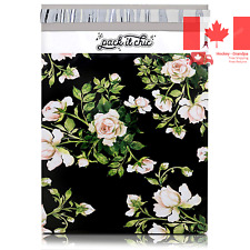 100-10 X 13 PackItChic - Floral Design Custom Poly Mailer Envelope Shipping B...