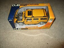 Diecast Dub City Kustoms Hummer H2 Yellow 1/24 Scale MISB Jada Toys 2005
